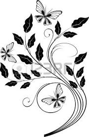 ornamental design element with butterflies royalty free cliparts