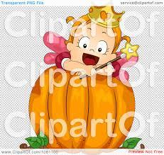 pumpkin no background clipart toddler fairy halloween on a big pumpkin royalty