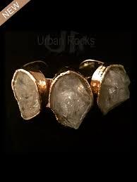 dipped in gold three rock cuff vermeil bracelet silver dipped in