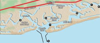 murrells inlet map saltwater series the most of murrells inlet carolina