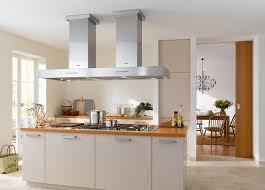 kitchen island range hood with stainless steel cooktop wooden