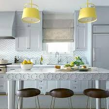 Gray And Yellow Kitchen Decor - yellow and blue kitchen design ideas