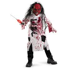 boys child deluxe demented doctor dr bloody zombie lab coat