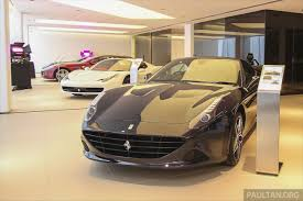 ferrari showroom ferrari maserati prices unchanged despite gst falling ringgit