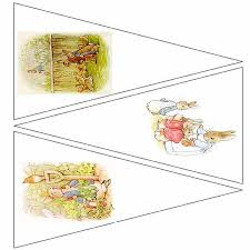 peter rabbit printable bunting template 5 pages 15 images