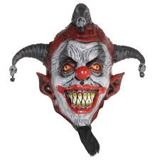 killer clown mask evil psycho jester killer circus clown mask
