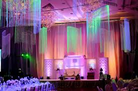 wedding backdrop manila white elegance stage backdrop and ceiling treatment by something