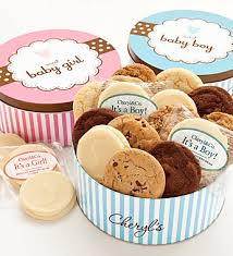 cheryl s sweet new baby boy gourmet cookie tin gift idea