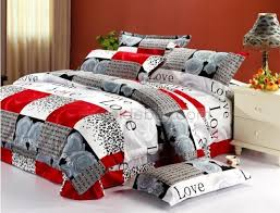 modern style bedroom ideas with plaid grey rose cotton duvet cover