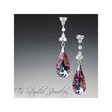 teardrop chandelier earrings peacock bermuda blue chandelier earrings