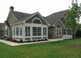 hillside home designs hillside walkout basement house plans new decor atrium ranch cabin