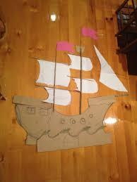 pirate ship template cardboard pirate ship making a pirate ship