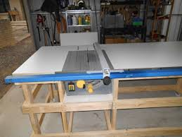 table saw station plans table saw work station with homemade t square fence part 2 table
