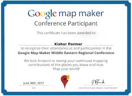 Google Maps Maker Google Awards Parmar Consultancy