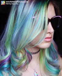 Hair Color Spray For Roots Opal Hair The Latest Pastel Rainbow Hair Trend Rainbow Hair Colour