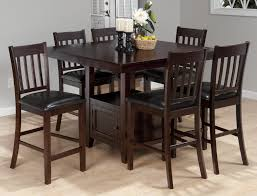American Drew Dining Room American Drew Camden Black Round Counter Height Pedestal Table