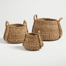 Wicker Desk Accessories by Baskets Decorative Storage U0026 Wicker Weave Baskets World Market