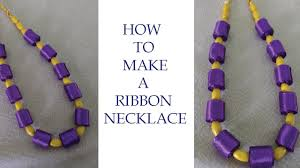 make ribbon necklace images Diy ribbon necklace jewellery design ideas k creations 3 jpg