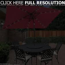 Solar Patio Umbrella Lights by 10 Foot Wide Rectangular Offset Patio Umbrella With Solar Lights