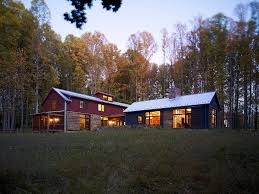 Rustic Barn Homes Pole Barn House Plans Exterior Rustic With Steel Canopy Grove