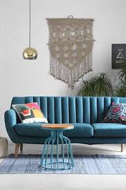 Blue Sofa Living Room Design by Love The Color Combination Of Blue And Green In This Living Room