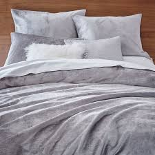 West Elm Duvet Covers Sale Washed Cotton Luster Velvet Duvet Cover Shams West Elm
