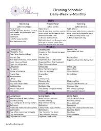 free cleaning schedule download from joyful mothering free