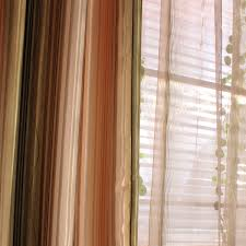 cheap orange and green striped french country curtains