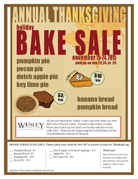 thanksgiving bake sale