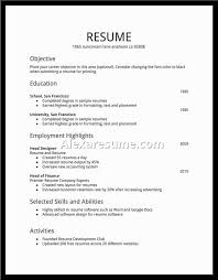 Free Resume Template Download Pdf Examples Of Resumes Resume Template Simple Student High Resumes