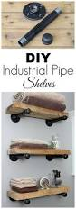 best 25 pipe shelves ideas on pinterest industrial pipe shelves