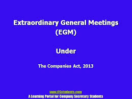 egm provisions under the companies act youtube