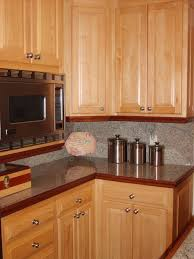 Maple Cabinet Kitchen Elegant Kitchen Designed With Granite Countertops And Maple