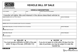 Auto Dealer Bill Of Sale Template by How To Transfer The Title Of A Car Yourmechanic Advice
