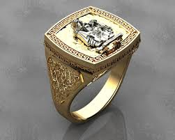 men ring platinum 3d print model men ring cgtrader