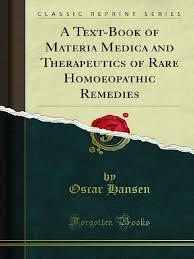 a text book of materia medica and therapeutics of rare