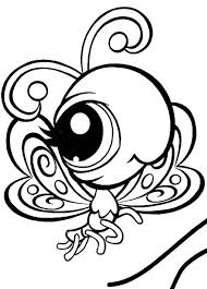 pet shop butterfly flying coloring pages batch