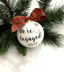 we re engaged ornament gift engagement gift
