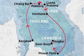 Map Of Laos Laos Tours Travel U0026 Trips Peregrine Adventures Us