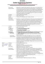 Automobile Service Engineer Resume Sample by Senior Inspection Engineer V Chandrasekhar Resume As On 01 12 2014