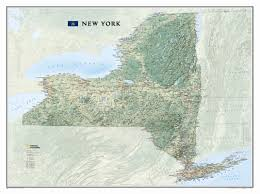 United States Wall Map Laminated by National Geographic Maps New York State Wall Map U0026 Reviews Wayfair