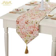 home decor table runner romorus rustic table runner tassel beautiful leaf table cloth