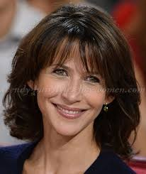 above shoulder tapered around face hairstyle medium hairstyles over 50 sophie marceau shoulder length