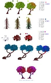easy trees tutorial by ryky on deviantart