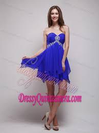 quinceanera damas dresses sweetheart royal blue quinceanera damas dress with beading