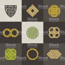 a collection of logos for interior decor and home decoration stock