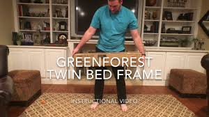 Twin Bed Base by Tutorial Green Forest Metal Twin Bed Frame Product Link In