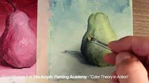 acrylic painting analogous color scheme youtube