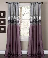 purple u0026 gray night sky curtain panel zulily