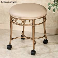 Dining Room Chairs With Wheels Vanity Chair With Back And Casters Home Design Ideas